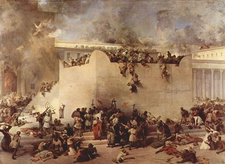 Francesco Hayez Destruction Temple Jerusalem cbdyag