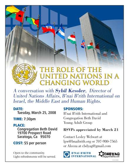 Flyer for the Role of the U.N. in a Changing World