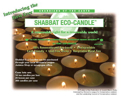 Shabbat Eco-Candle