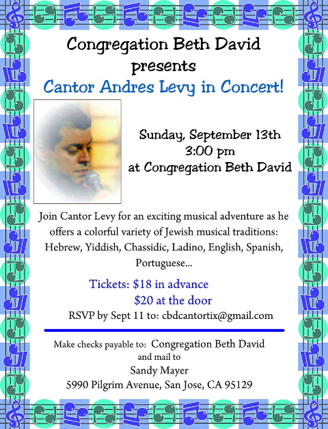 Cantor Levy Flyer