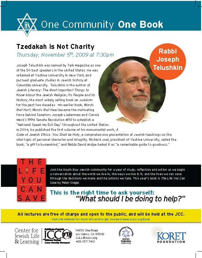 Rabbi Joseph Telushkin Free Talk