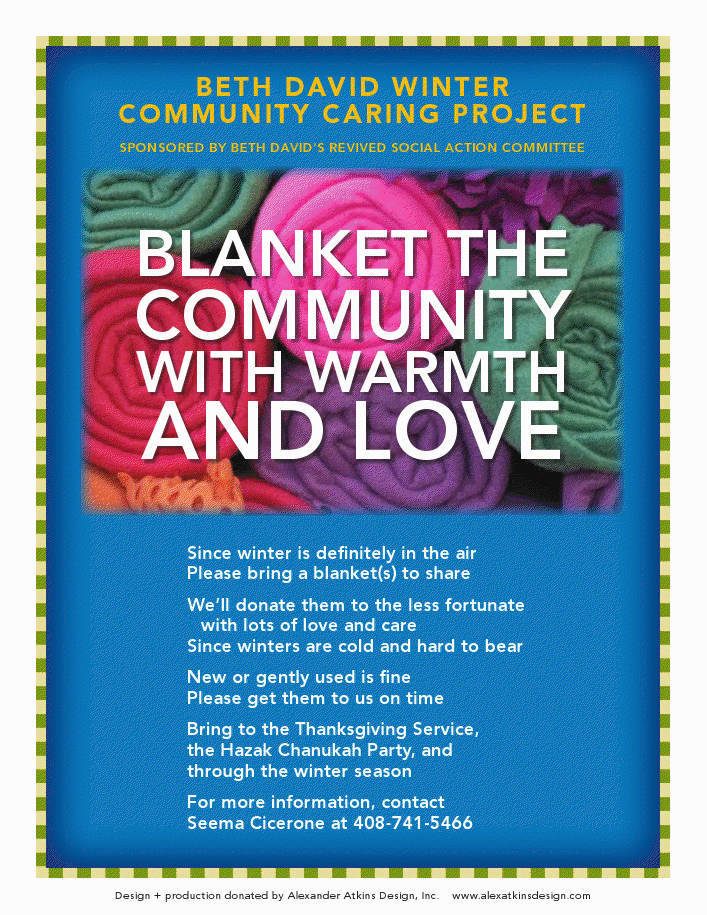 blanket the community, CBD Winter mitzvah project