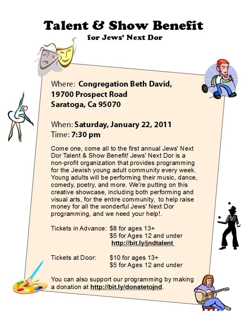 Talent & Show benefit for Jews' Next Dor