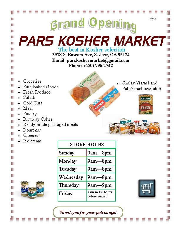 Pars Kosher Market Grand Opening
